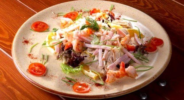 салат из тушки кальмара с фото