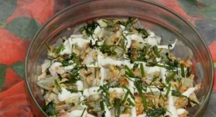 Простые салаты с копченой грудкойы