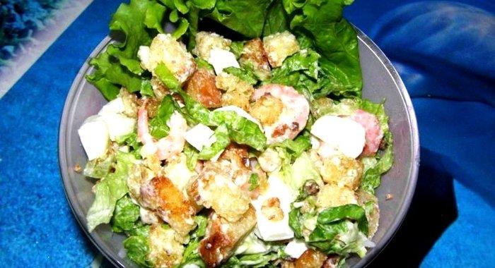 Салат с сухариками рецепты с фото простые