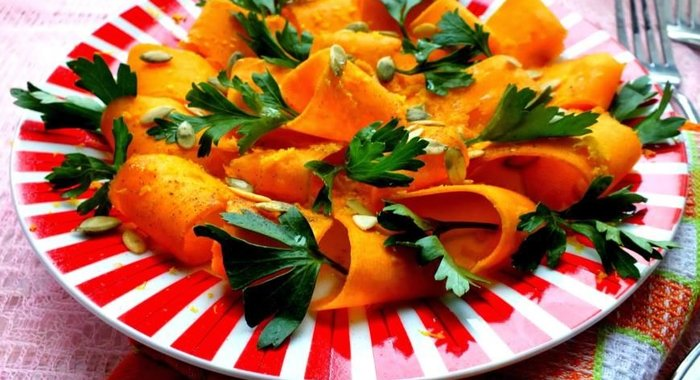 Из тыквы с салаты