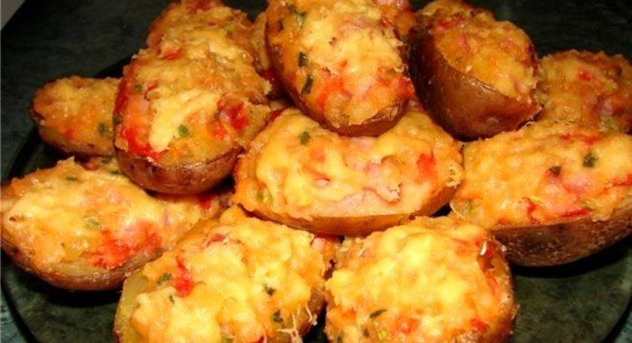 Фаршированный картофель в духовке с пошагово рецепты