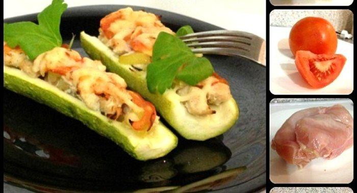 Рецепт кабачки с курицей запеченные в духовке рецепт с пошагово