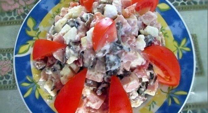 салат с ветчиной рецепты с фото пошагово