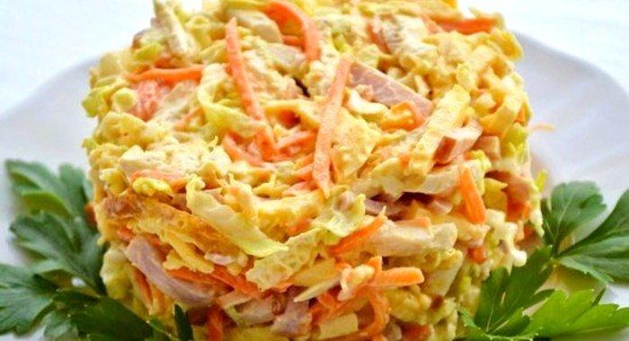 Простые салаты с корейской морковью на скорую руку с