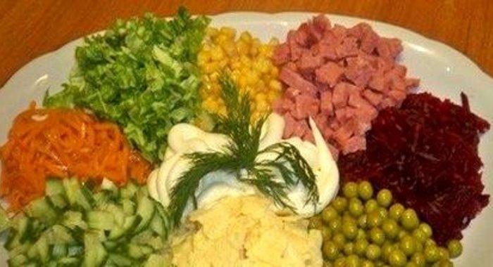 Салат на праздник легко дешево рецепт фото