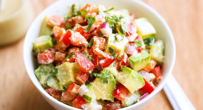 Салат из авокадо быстро и вкусно