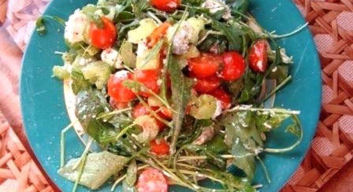 Салат из креветок с овощами рецепт с пошагово