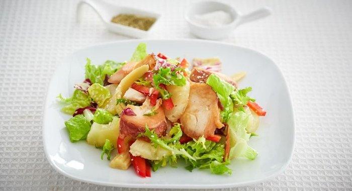 Вкусные салаты с копченой курицей рецепты новые