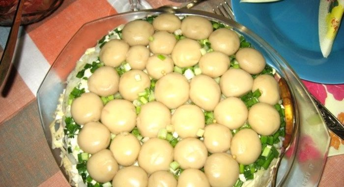 Салат лукошко рецепт с пошагово