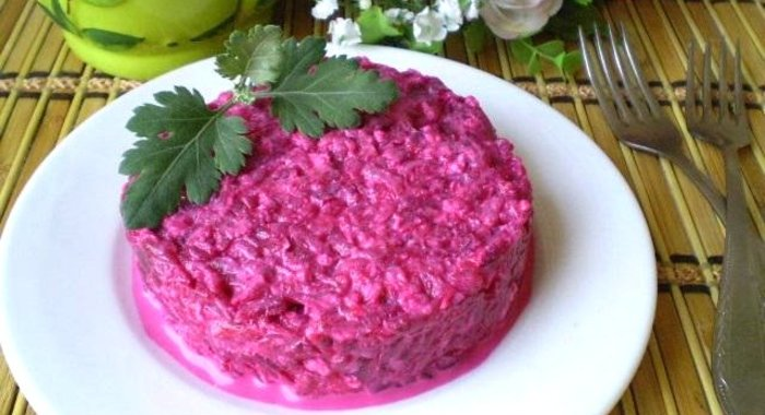 Салат из свеклы простой рецепты с пошагово