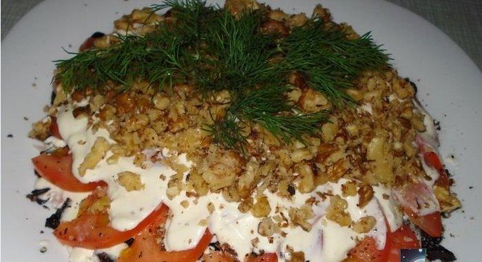 Рецепт салата с черносливом с пошаговым