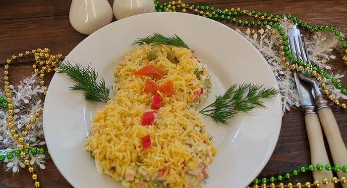 салат кальмаровый фото-рецепт