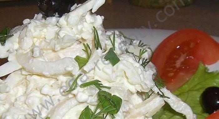 Салаты из кальмаров с болгарским перцем