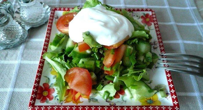 Овощные салаты диетические рецепты с простые
