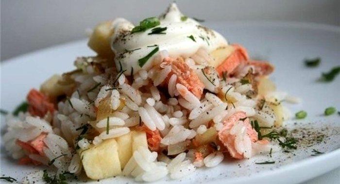 Салат с вареной семгой рецепт с очень вкусный