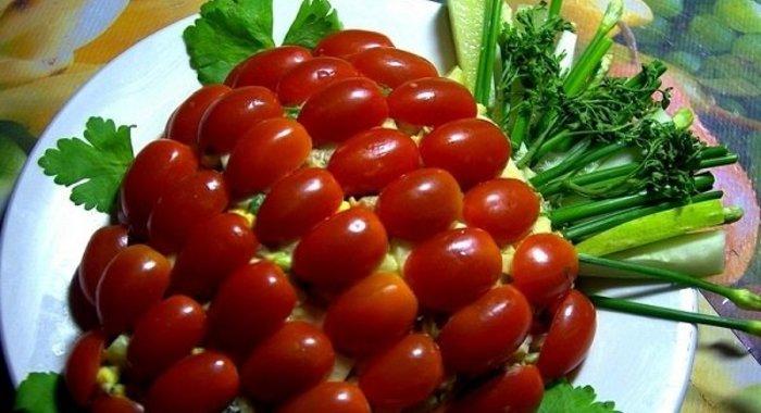Салаты с помидорами черри рецепты с простые и вкусные