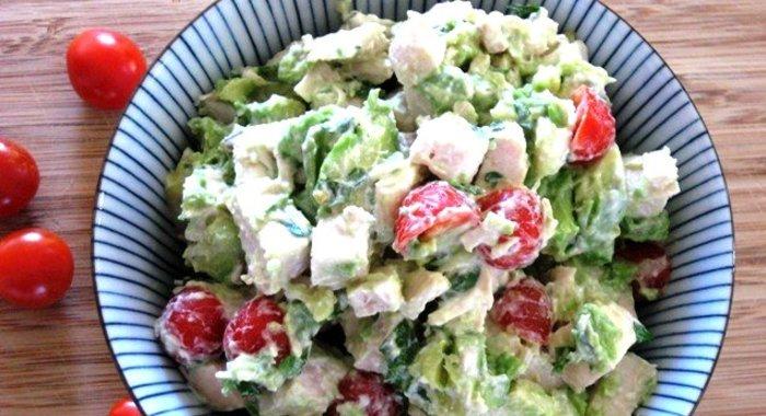 Куриный салат с авокадо рецепты