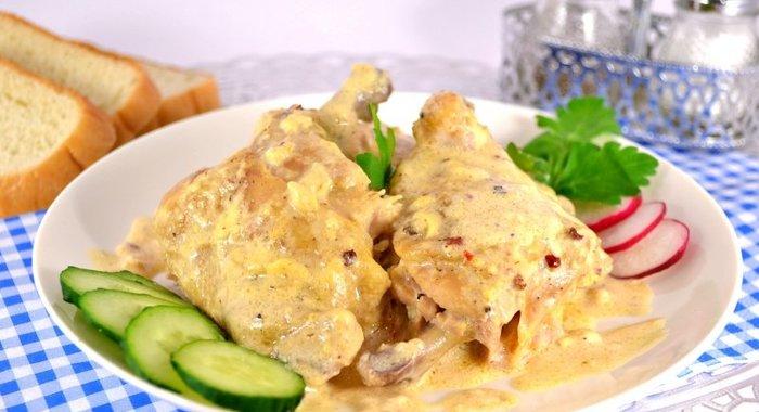 Сырный соус с курицей