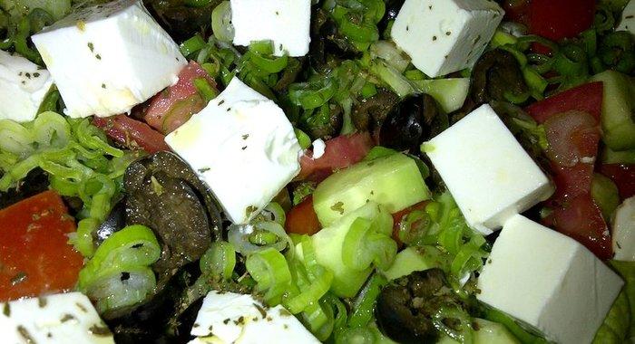 Салат из сыра фета с фото