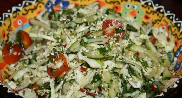Постный овощной салат рецепт с