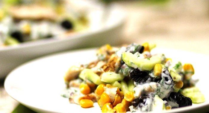 Салаты с кукурузой и курицей рецепты простые и вкусные