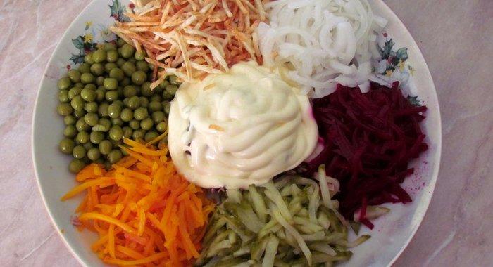 Рецепты салата радуга с фото