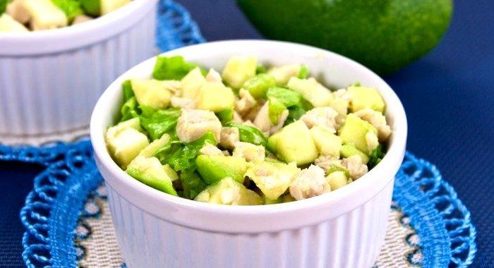 Салат с авокадо скрипкина