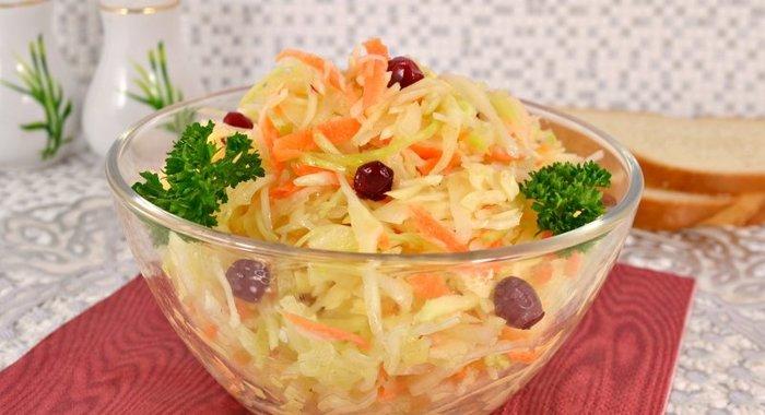 Салат из капусты и моркови с уксусом рецепт с пошагово