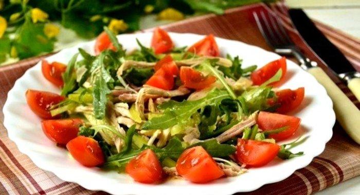 Рецепты салатов с руколой и курицей