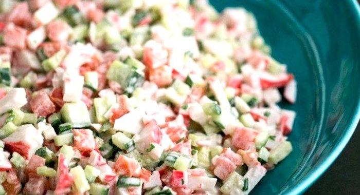 Салат крабовый помидорами рецепт с пошагово