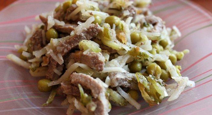 Мясной салат рецепт пошагово в домашних условиях