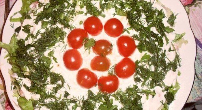 Царский салат рецепт пошагово с