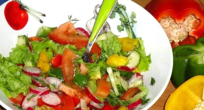 Быстрый салат на скорую рукуы