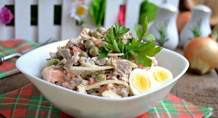 Вкусные салаты для мужчин и рецептами