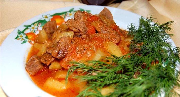 Жаркое из говядины пошаговый рецепт