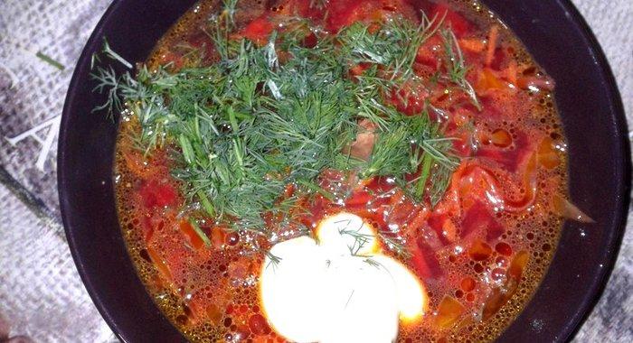 Как приготовить борщ с свининой пошаговый с фото