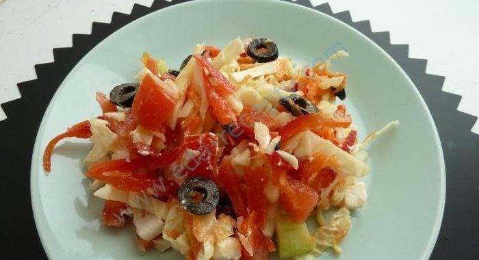 салат с китайской капустой греческий