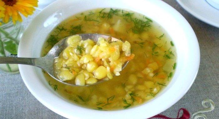 Суп гороховый с картошкой