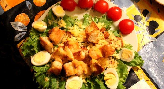 салаты из креветок тертого сыра зеленого салата фото
