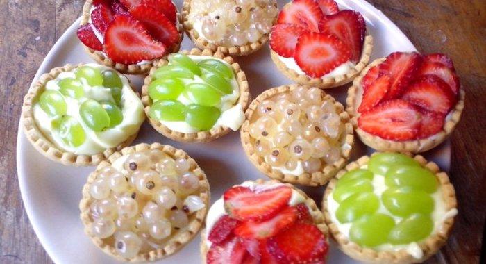 Тарталетки с фруктами рецепты с фото