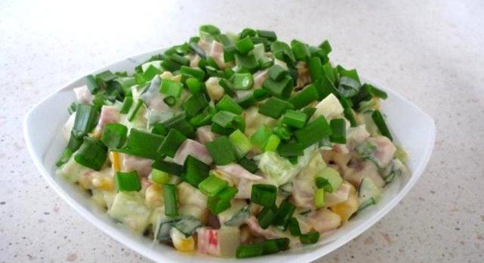 Салат с кукурузой быстро и вкусно рецепты с