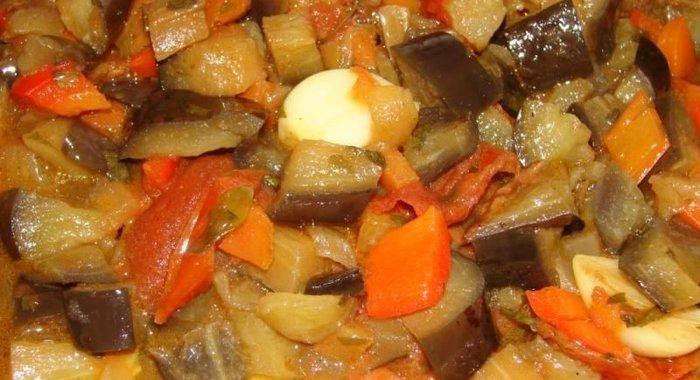 Рагу из баклажанов рецепт пошаговый