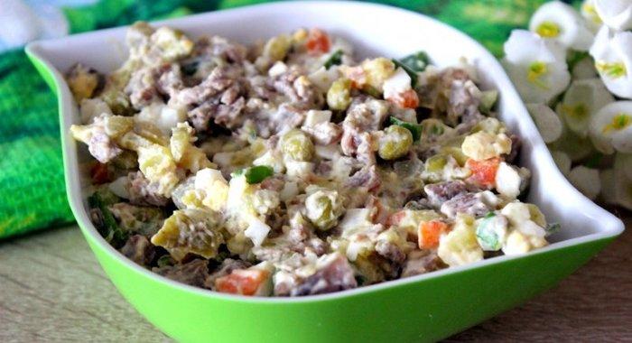 салат оливье с говядиной рецепт с фото