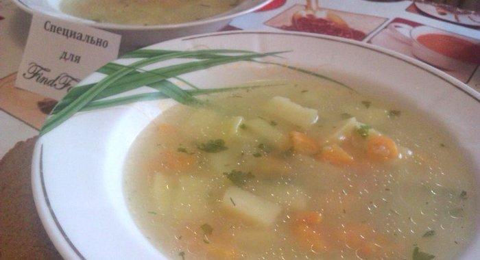 Рецепт овощного супа на курином бульоне