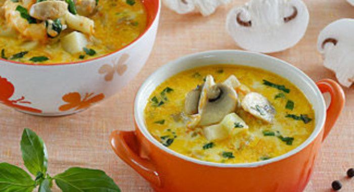 Сырный суп с шампиньонами в мультиварке рецепты с фото