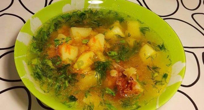 гороховый суп с копченостями рецепт с фото