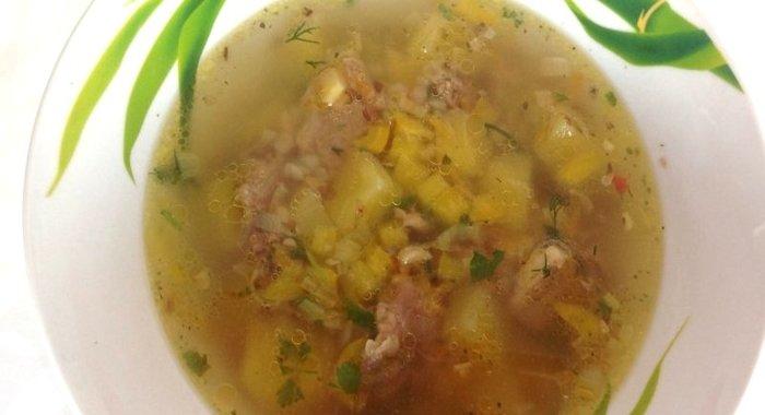 какой сварить суп из свинины вкусный рецепт