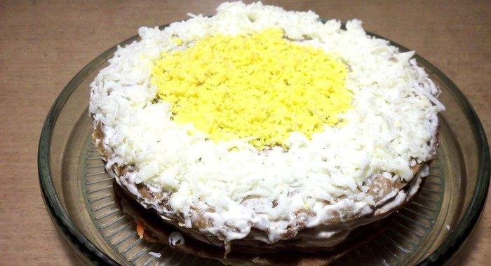 Печёночной торт рецепт с фото пошагово в домашних условиях