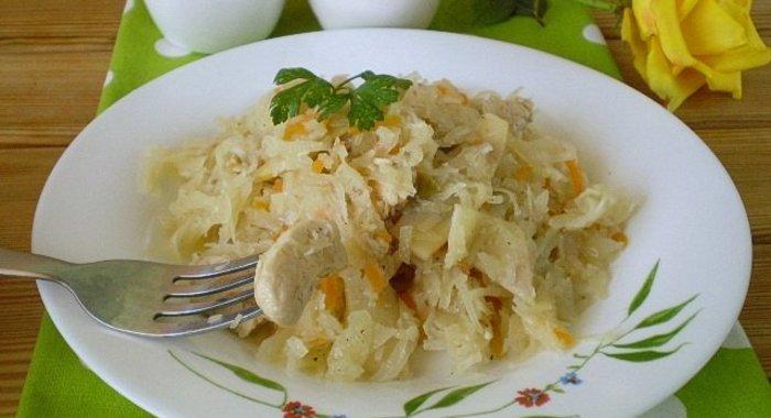 Солянка капуста с курицей рецепт пошагово