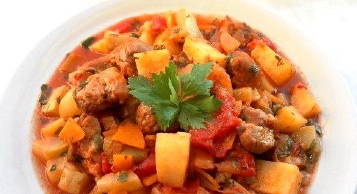 Рагу с овощами и курицей рецепт с пошагово